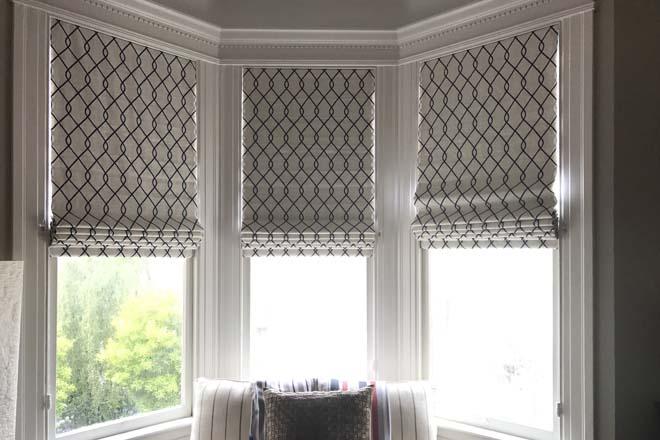 Custom roman shades hunter douglas san francisco tiburon ca for Fabric window blinds designs